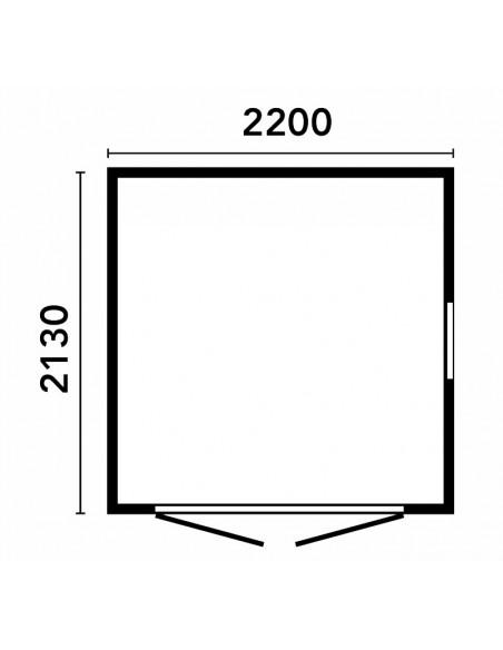 Casetta 210x210 A PANNELLI