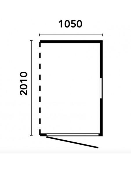 Casetta ADDOSSATA 105x200 A PANNELLI