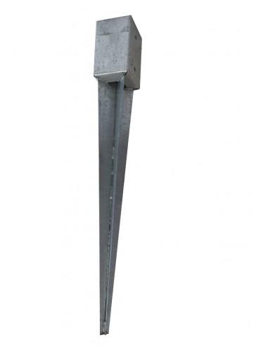 STAFFA CON PUNTA PER MONTANTE 9 x 9 cm