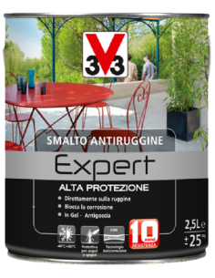 SMALTO ANTIRUGGINE EXPERT NERO BRILLANTE RAL 9005