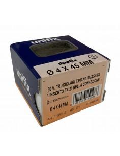 CONF. VITI 4 x 45 mm CON INSERTO TX 20